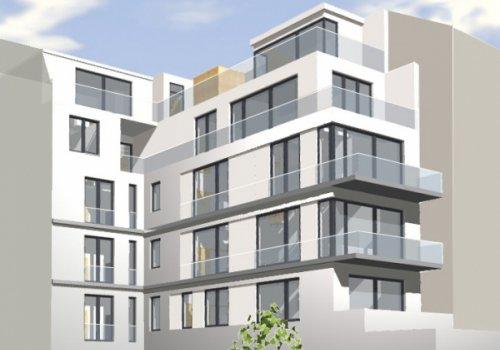 Neubau eines Mehrparteien-Wohnhauses, Berlin-Mitte